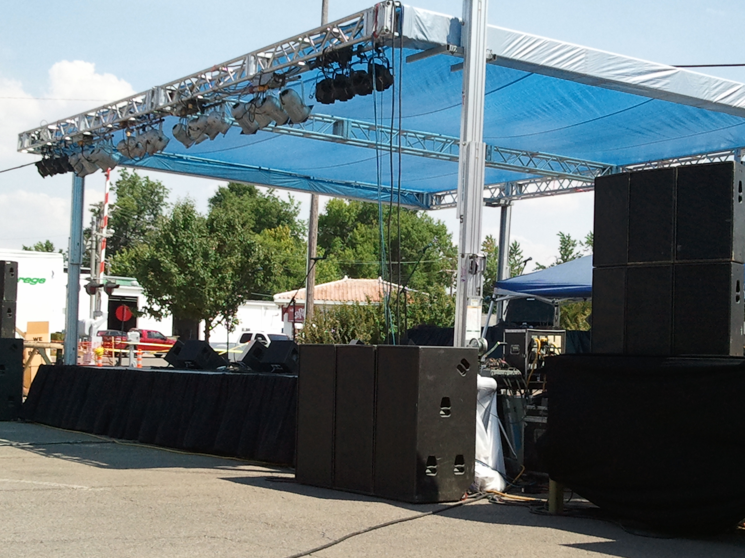 memphis stage rental festival stage rental