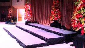 Oak Hall R Stage with Truss, Sound